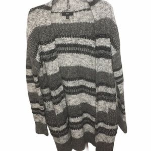 Mossimo long cozy striped cardigan sweater